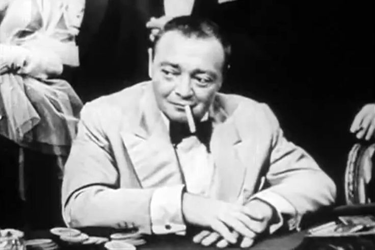 "Peter Lorre as Le Chiffre in CBS' ""Casino Royale"" (1954)."