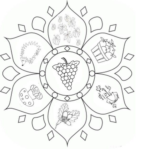 Coloring page Fall's Mandalas