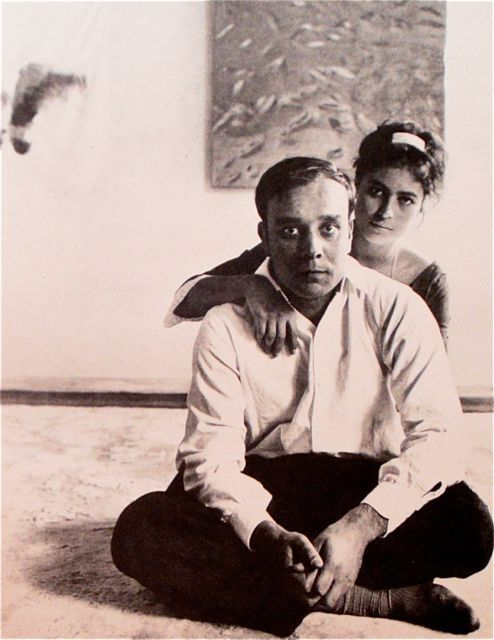 Yves Klein and Rotraut Uecker  Paris  1961