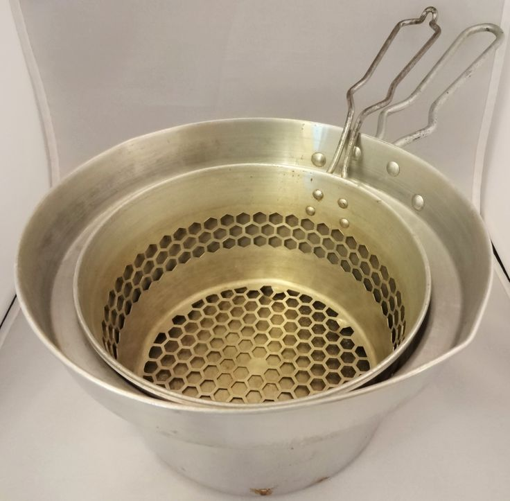 Vintage Cooker / Fryer Cooking Set by The West Bend Aluminum Company, Two Piece Fryer / Cooker by LaursVintage on Etsy