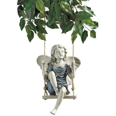 Design Toscano Summertime Fairy on a Swing Figurine
