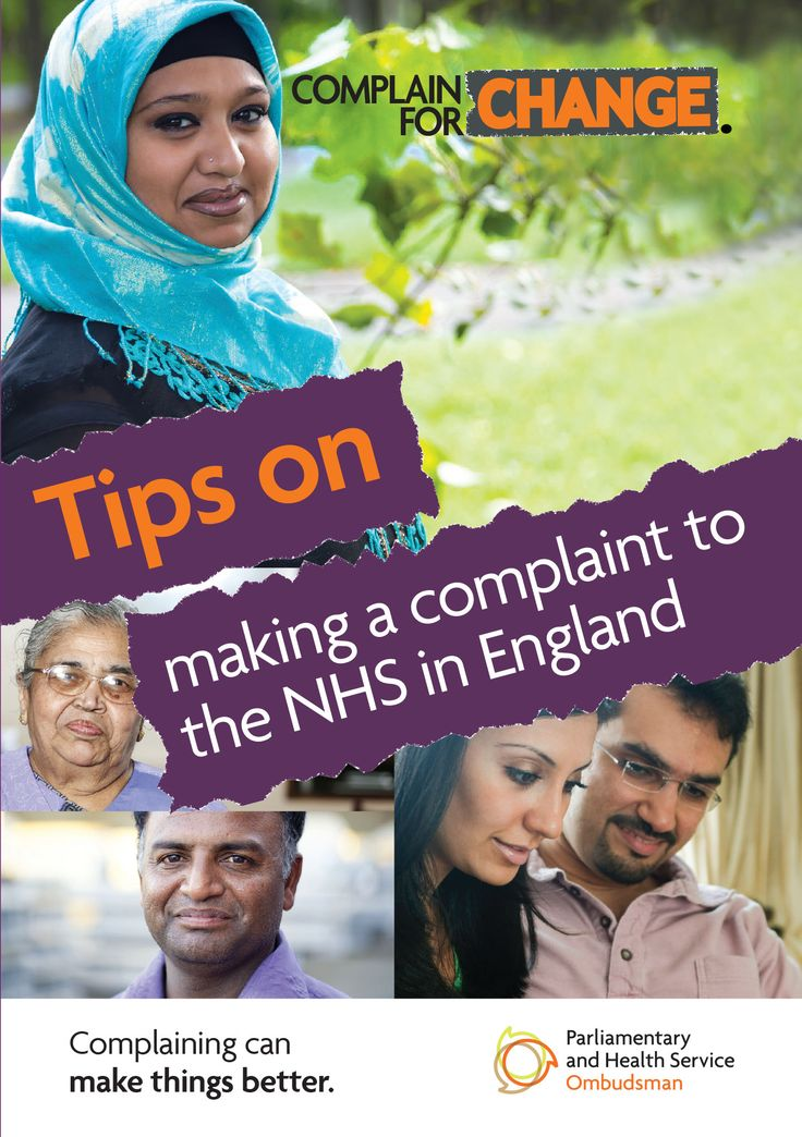 Complain for Change South Asian and Muslim women campaign - leaflet for Tips on making a complaint to the NHS in England Our resources are also available in Bengali,  Gujarati, Hindi, Punjabi and Urdu.  To order our printed materials or to request alternative formats email publications@ombudsman.org.uk
