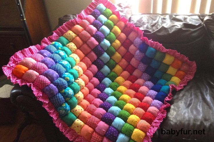Baby Bubble Quilt for Tummy Time Rainbows Baby Quilt Handmade Quilt Bubble Blanket Play Mat Biscuit Quilt Puff Quilt - http://babyfur.net/baby-bubble-quilt-for-tummy-time-rainbows-baby-quilt-handmade-quilt-bubble-blanket-play-mat-biscuit-quilt-puff-quilt.html