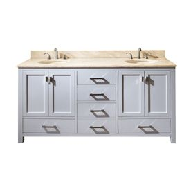Avanity�Modero White Undermount Double Sink Bathroom Vanity with Natural Marble Top (Common: 73-in x 22-in; Actual: 73-in x 22-in)