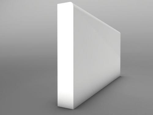 Small Bullnose MDF Skirting Board 25mm
