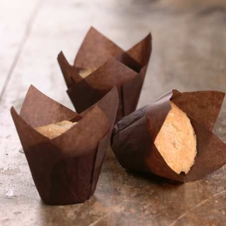 """Tulip Muffin Papers - Brown, Set of 24  Make you own idea from Everyday Cheapskate Mary Hunt. Cut parchment squares-6"""" for reg muffins or 3"""" for mini-muffins. Form cups around a small can or small bottle and line your pan with your homemade muffin cup liners!!! CHEAP!"""