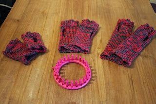 Elke dag een handje: My fingerless gloves knitted on the loom #iljaeigenwijs