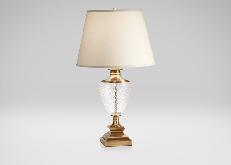 Beautiful Brass Etched Urn Table Lamp