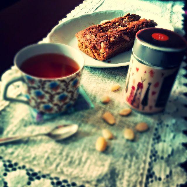 singlemama: plumcake di riso integrale al té e mandorle