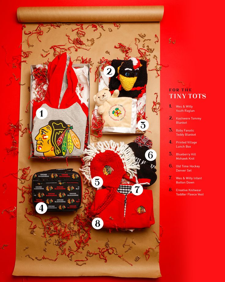 #Blackhawks gifts for the tiny tots