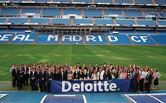 Deloitte new hires at Santiago Bernabeu stadium - Madrid
