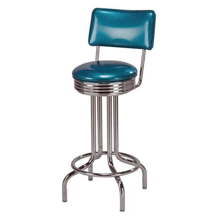 retro metal counter stool turquoise cascade - Metal Counter Stools