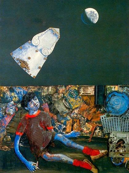 Juanito Laguna y la aeronave (1978), de Antonio Berni