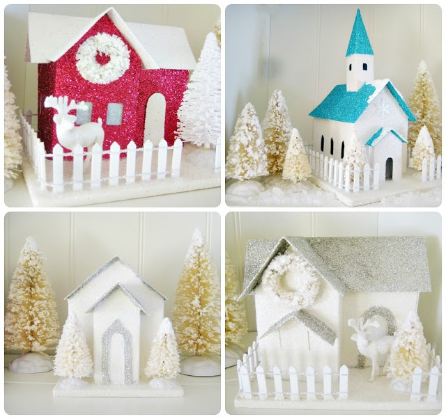 17 best images about cardboard glitter houses on pinterest. Black Bedroom Furniture Sets. Home Design Ideas