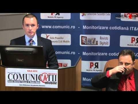 Prezentare sustinuta la Gala COMUNIC@TII Mobile 2012 de Dragos Basmaluta -- CEO Mira Telecom