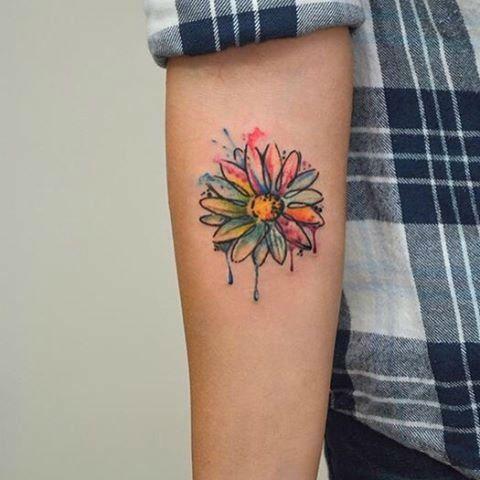 24 Photos of Cheerful Daisy Tattoos - Sortra