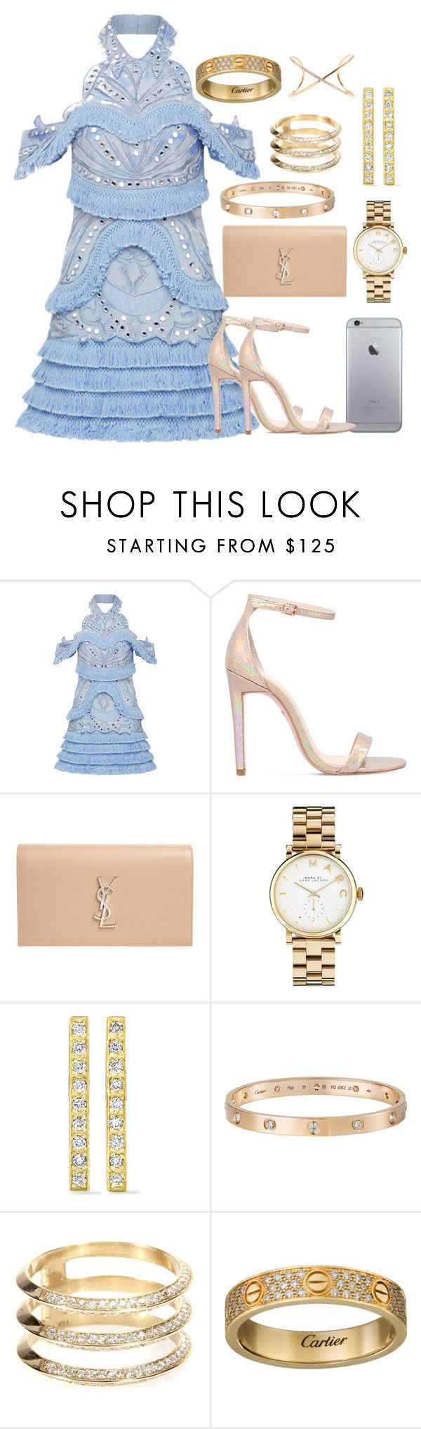 """Diamonds are a girls bestfriend💎"" by itspxulineee ❤ liked on Polyvore featuring Thurley, Carvela, Yves Saint Laurent, Marc by Marc Jacobs, Jennifer Meyer Jewelry, Cartier, Ileana Makri and Roberto Marroni"
