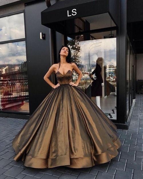 Photo of bronze ball dress