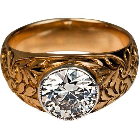 Vintage Russian Diamond Ring
