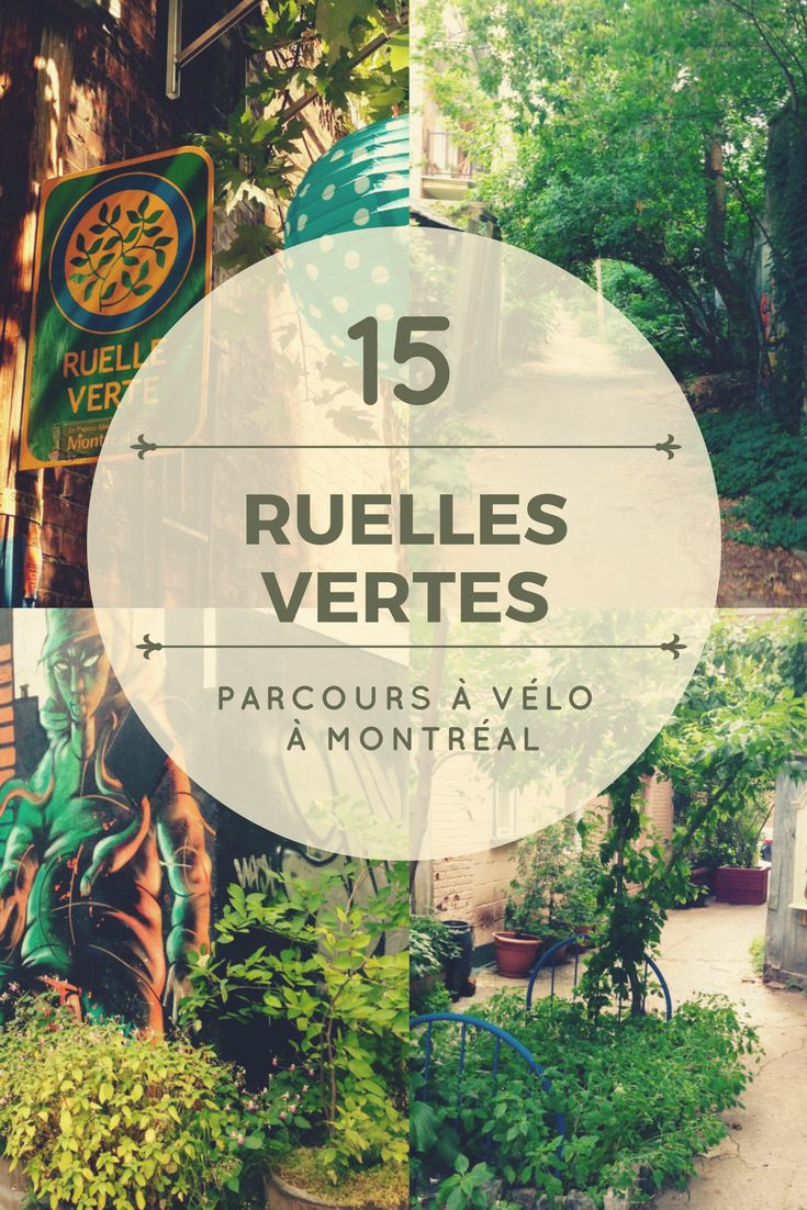 Itinéraire dans 15 des belles ruelles vertes du Plateau et des environs. À faire à pied ou à vélo, pour y découvrir des merveilles architecturales..