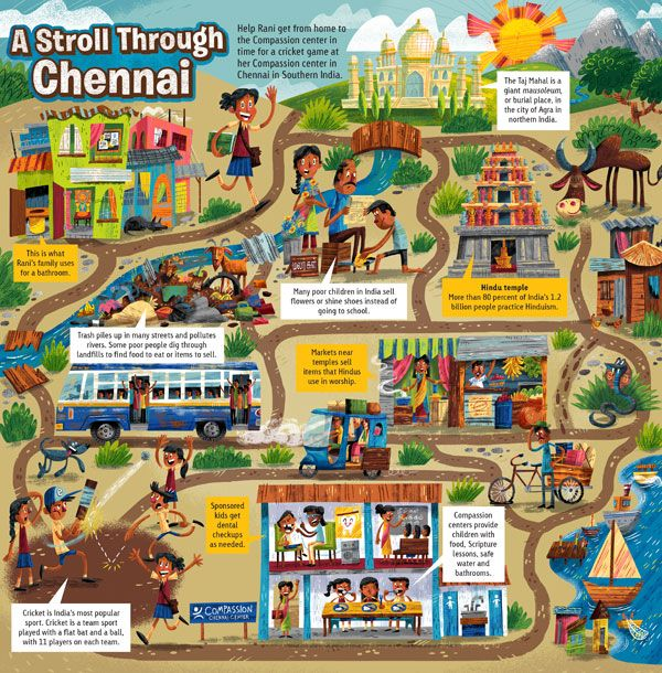 Kids will learn a little about life in India with this printable maze activity from Compassion Explorer Magazine