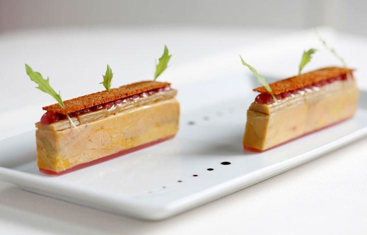 Confit of duck liver foie gras, rhubarb, spiced bread Chef Daniel Galmiche