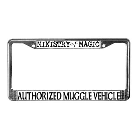 Harry Potter License Plate Frame- I definitely need this on my first car