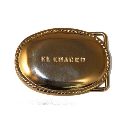 """F208 – Limited Edition -1984 - El Charro - La F208 è in assoluto la fibbia El Charro più richiesta negli anni '80.  Questa """"dorata con la coroncina"""" per eccellenza è perfetta la cintura El Charro Vintage 194 Gold.  E' stata realizzata in migliaia di esemplari ed è oggi introvabile (l'ultimo """"fondo"""" è stato venduto a Novembre 2012).  Misura 7 x 5 cm."""