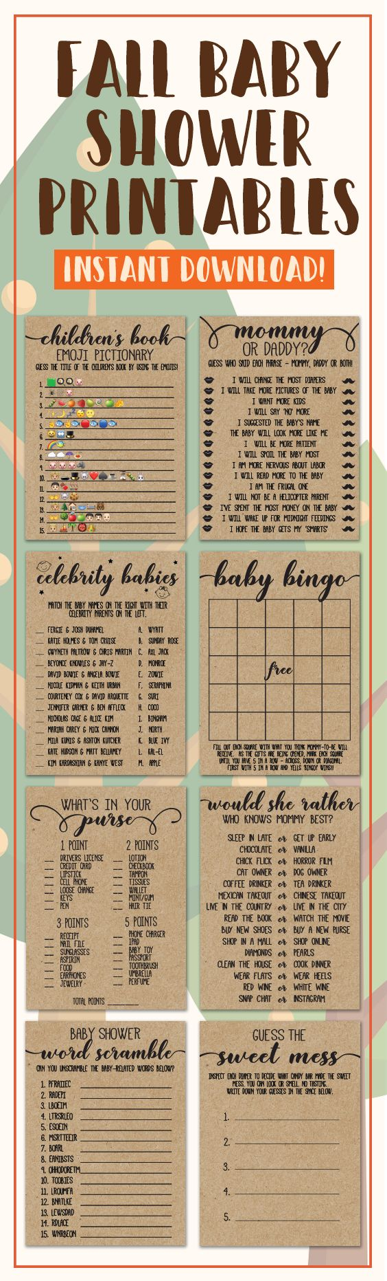 Rustic Baby Shower, Baby Shower Games, Baby Shower Ideas, Fall Baby Shower Games…