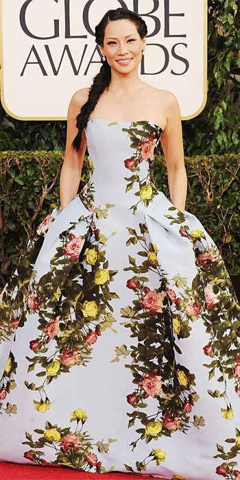 Lucy Liu 2013 Golden Globes #celebrities #celebrityfashion #redcarpet