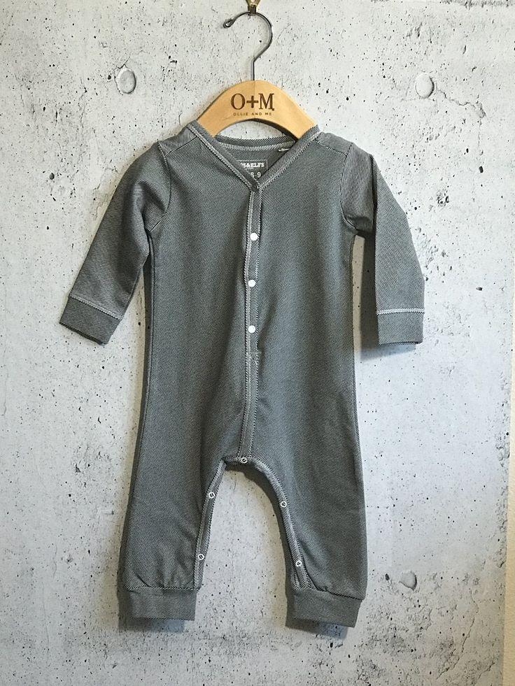 Imps & Elfs Cotton Jumpsuit - Dark Grey Stripe