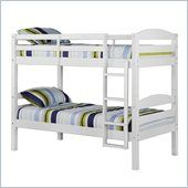 Walker Edison Twin/Twin Solid Wood Bunk Bed in White - BWSTOTWH