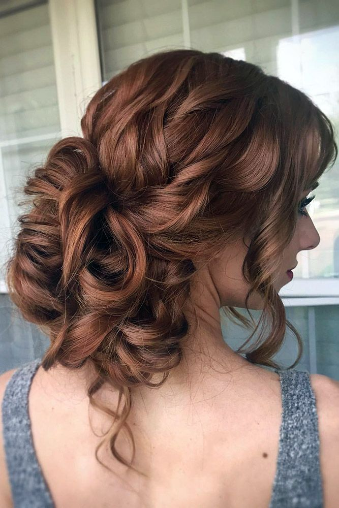 Wedding Updos Curly Low Elegant On Red Hair Alex Haircraft Hair Updos Wedding Hairstyles Loose Updo