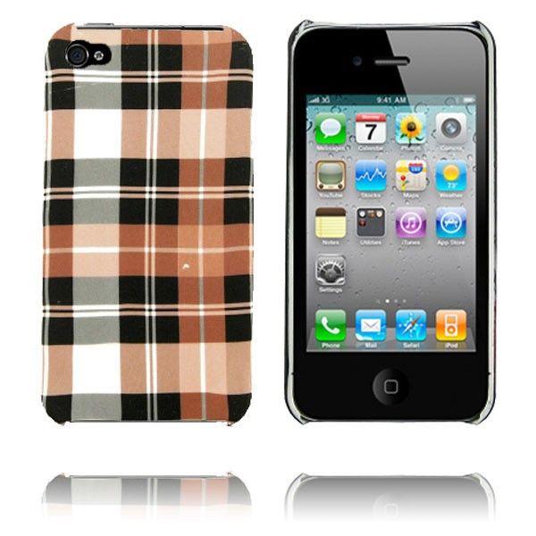 Barsberry 4 (Sjakk Brun) iPhone 4/4S Deksel