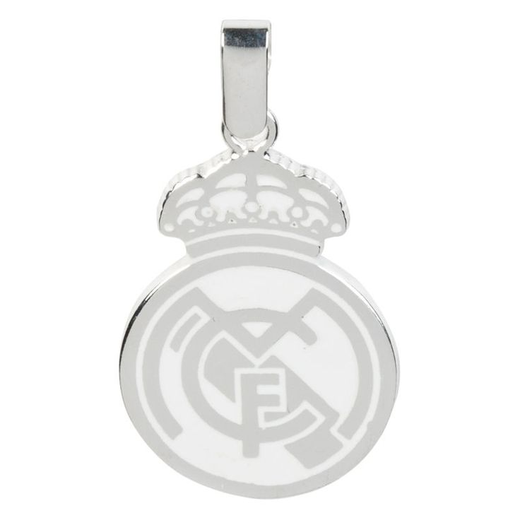 Real Madrid Colour Crest Sterling Silver Pendant