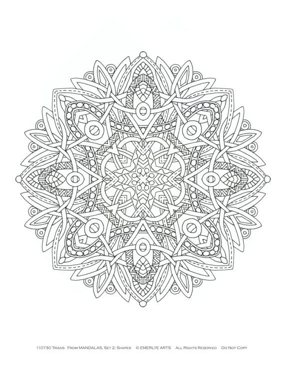 Mandalas Coloriages formes adultes par emerlyearts sur Etsy