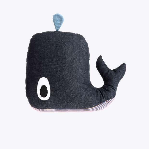whale cushion