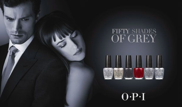 Limited-edition OPI nail lacquers inspired by Fifty Shades of Grey. Available in January.