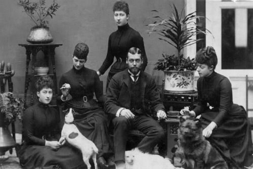 "1892 mourning for Prince Albert Victor ""Eddy"" (1864-1892): Princess Maud of…"