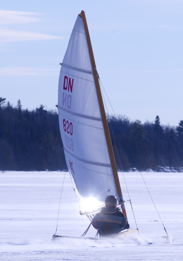 Ice Boating in Kawartha Lakes  ... Why not try this this winter once the lakes are safely frozen over !