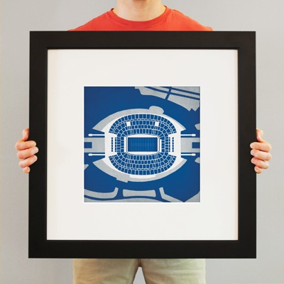 Cowboys® Stadium | City Prints Map Art  they have ballparks, cities, college campus too.