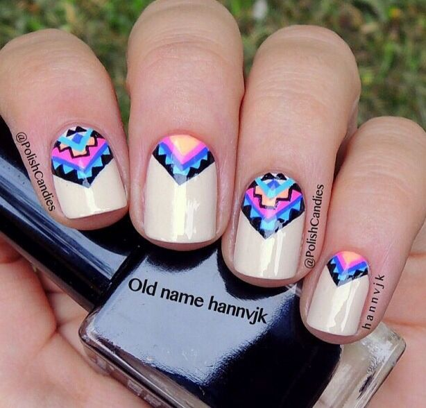 Best 25 tribal nail designs ideas on pinterest pretty nails aztec south western tribal nail design prinsesfo Image collections