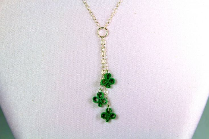 St Patricks Day Necklace Sterling Silver
