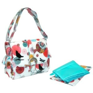 Kalencom Fashion Diaper Bag, Changing Bag, Nappy Bag, Mommy Bag, Midi Coated Buckle Bag (Sayonara)