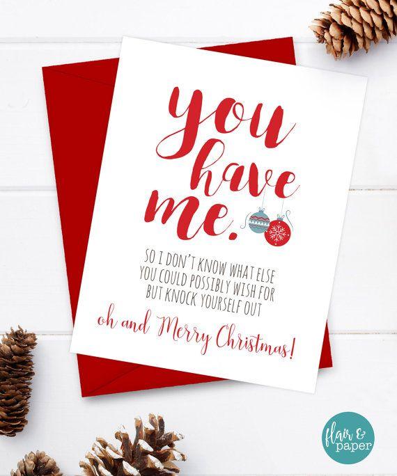 Funny Christmas Card - Boyfriend Card - Christmas Card -1432