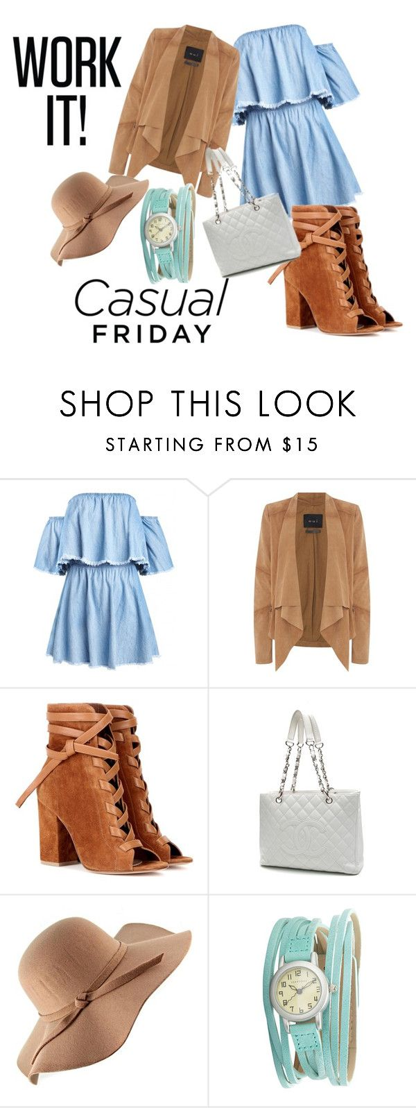 """""""Classy casual"""" by love666x on Polyvore featuring moda, Oui, Gianvito Rossi, Chanel y TOKYObay"""