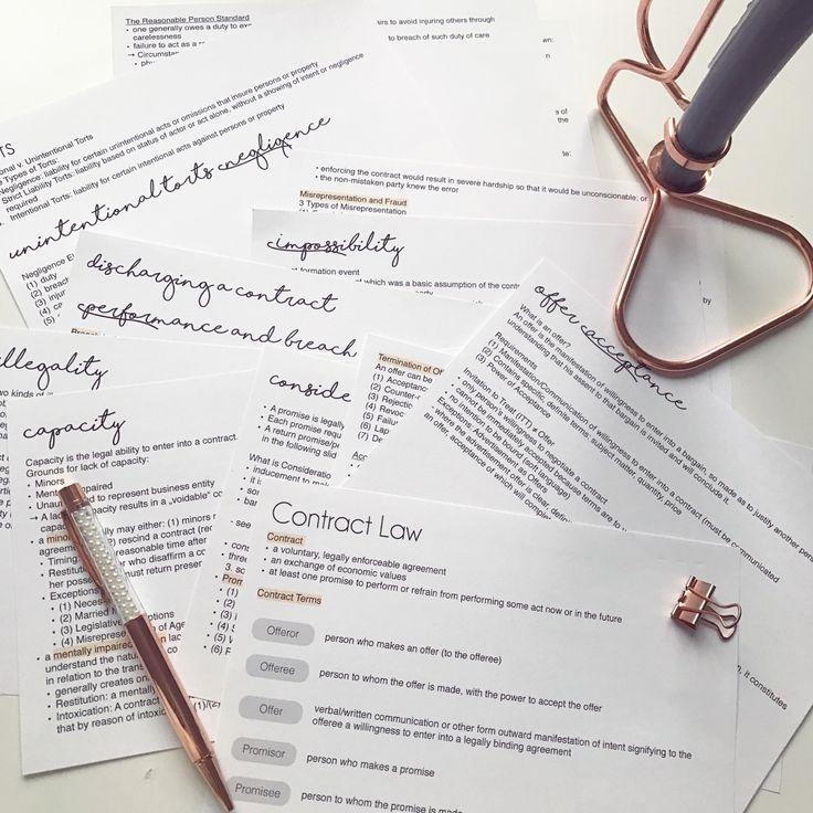 "celines-studyblr: ""Contract Law  """