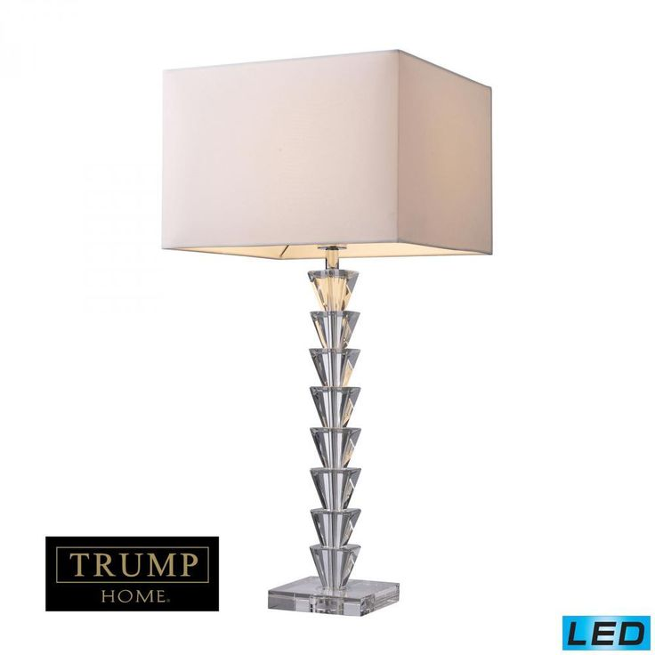 Lamps By Dimond Trump Home Fifth Avenue LED Table Lamp In Clear Crystal D1482-LED