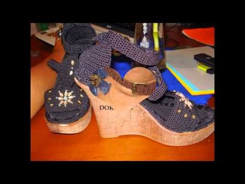 zapatos en crochet Diseños Doris Falcon - YouTube