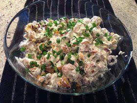 Warm Potato Salad (Earls Restaurant Copycat Recipe) holy smokers five pounds thats a lot of salad!